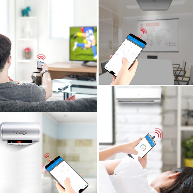 Baseus R02 IR универсальный инфракрасный адаптер-пульт управления ДУ для бытовой техники с помощью смартфона Android устройств 8(495)971-2057