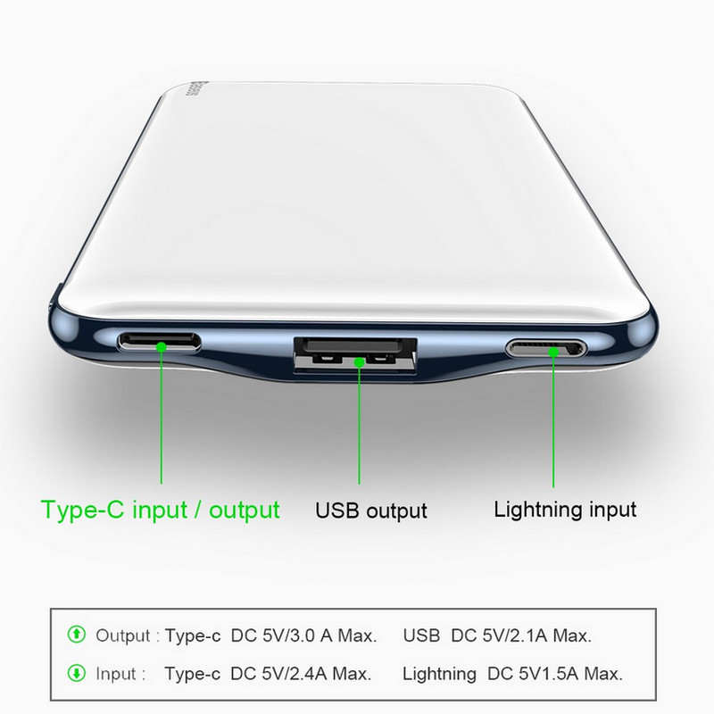 Powerbank мобильный аккумулятор Baseus M21 10000mAh 8(495)971-2057