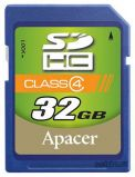 SecureDigital  SDHC 32GB Apacer Class 4 (AP32GSDHC4-R)