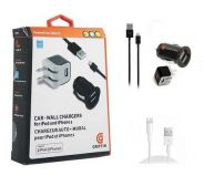 Зарядное устройство Griffin PowerDuo Micro Car and Wall Charger Lightning