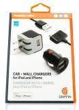 Зарядное устройство Griffin PowerDuo Micro Car and Wall Charger iPhone 4, iPad